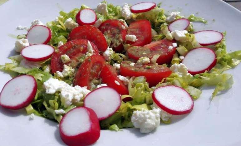 Salatteller wertvolle Kohlenhydrate